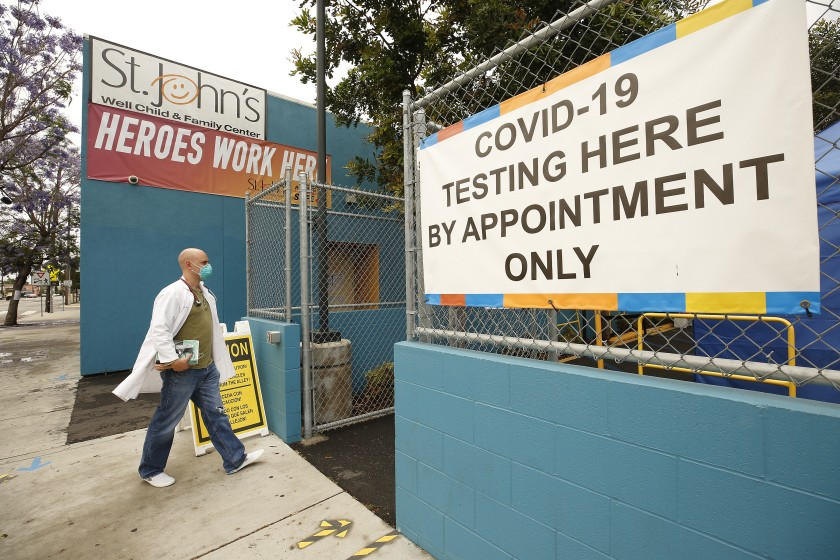 L.A. County reports 60 new coronavirus deaths as testing sites close for second day amid protests